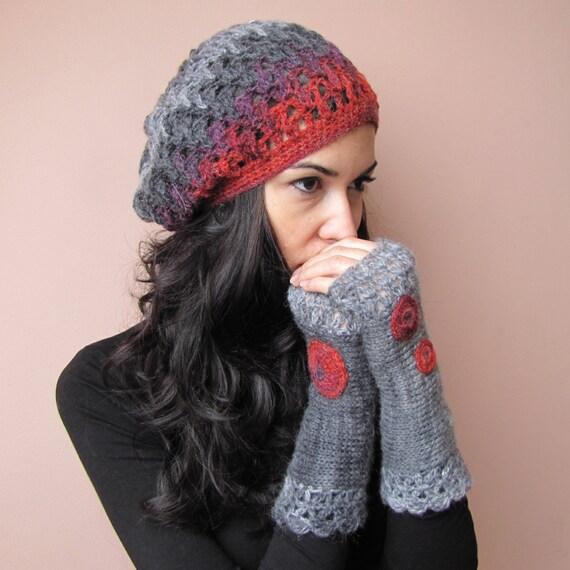 Womens Knit Baskenmütze Häkeln Baskenmütze Hut Französisch Etsy