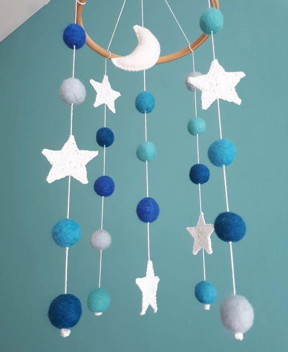 Mond Baby Mobile Sterne Junge Kinderzimmer Dekor Platz Krippe Etsy