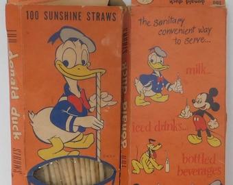 Vintage Donald Duck Straws