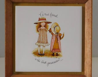 Holly Hobby framed tile A True Friend is the best Possesion