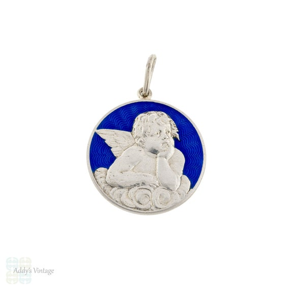 Angel Sterling Silver Pendant, Vintage Sterling Si