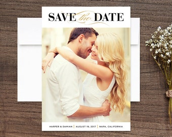 Save the Date Photo Cards Classic Love