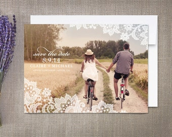 Lace Save the Date Cards