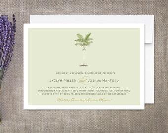 Palm Tree Plantation Rehearsal Dinner Invitation