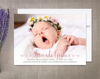 Girl Birth Announcement Lucinda