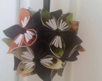Origami flower ball etsy kissing ball halloween kissing ball halloween ornament paper flower ball flower ornament origami flowers wedding decoration mightylinksfo