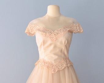 SALE///1950s Wedding Dress...WILLIAM CAHILL Candlelight Tea Length Wedding Dress