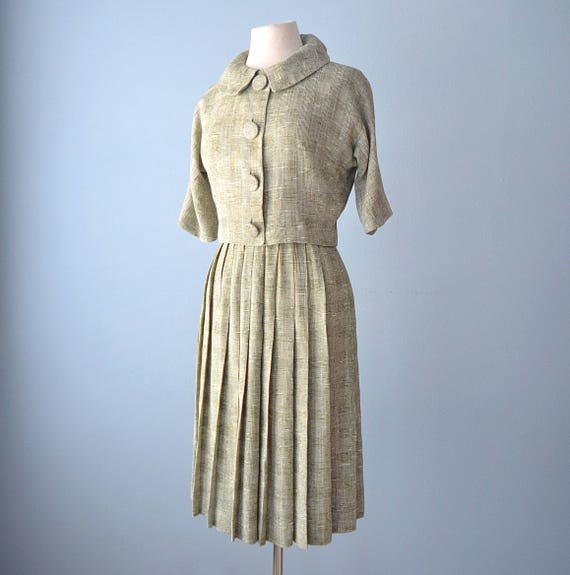 SALE///1960s Two Piece Suit...LOIS CASPER Two Piec