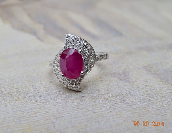 LAST CALL Sale Signet Ring Engagement Ring Sterli… - image 3