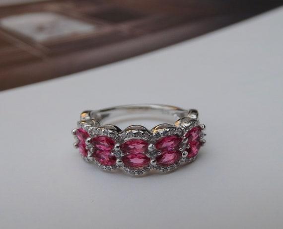 SALE Ruby Ring Sterling Silver Ruby Topaz Valenti… - image 3