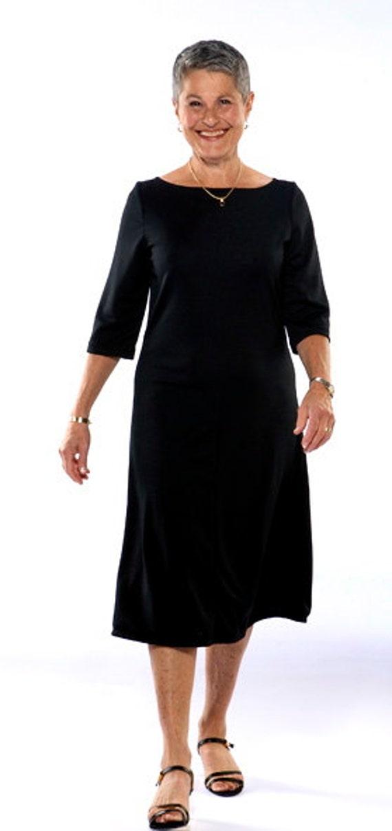 Black Knit Travel Dress Etsy