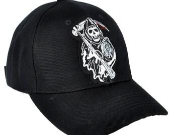 acd402f0750 Sons of Anarchy Reaper Crew Hat Baseball Cap Alternative Clothing Samcro  Biker Gang - DYS-PA-SOA-Cap