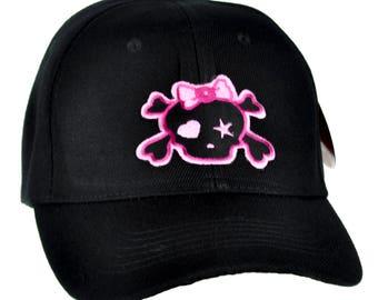 ddc40e9e23c07 Pink Punk Rock Skull Rockabilly Hat Baseball Cap Alternative Clothing  Crossbones Emo - DYS-PA-12-PINK-Cap