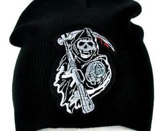 ce231ac8037 Sons of Anarchy Reaper Crew Beanie Knit Cap Gothic Alternative Clothing  Samcro Biker - DYS-PA-SOA-Beanie