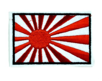 Japanese Flag Rising Sun Patch Iron on Applique Alternative Clothing Japan Anime - YDS-PA-268-PATCH