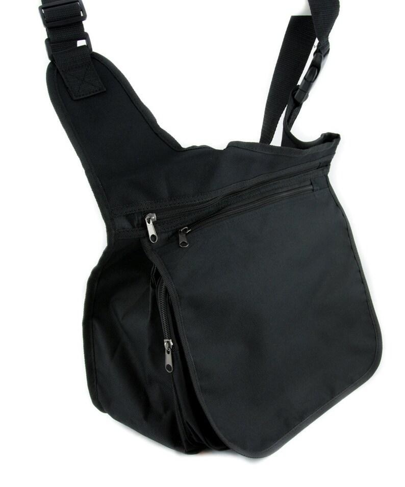 Wear Black Drink Blood Crossbody Messenger Bag School Work Goth Vampire Dracula