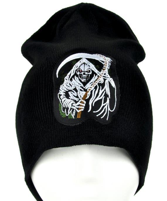 5ea7074a4b7 Grim Reaper from Hell Death Beanie Knit Cap Alternative
