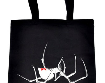 Black Widow Spider Tote Book Bag Handbag Halloween - DYS-TB-075