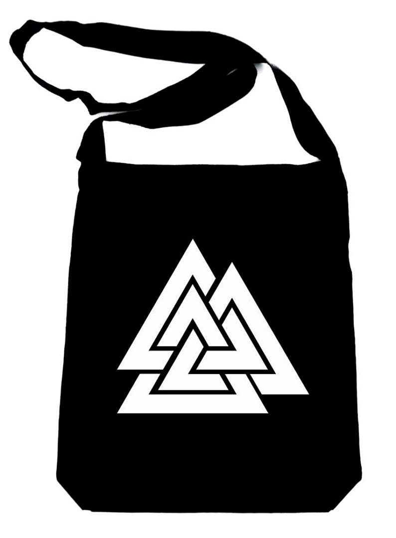 acce5ad2391f Norse Triangle Knot Crossbody Sling Bag The Valknut Odin's | Etsy