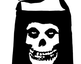 Skeleton Skull Misfits Punk Rock Crossbody Sling Bag School Alternative Grunge - DYS-HTV-005-SB