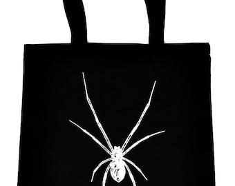 White Black Widow Spider Tote Bag Handbag