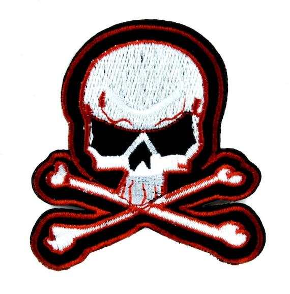 Skater Skull and Cross Bones Patch Iron on Applique  c2b82cd0216