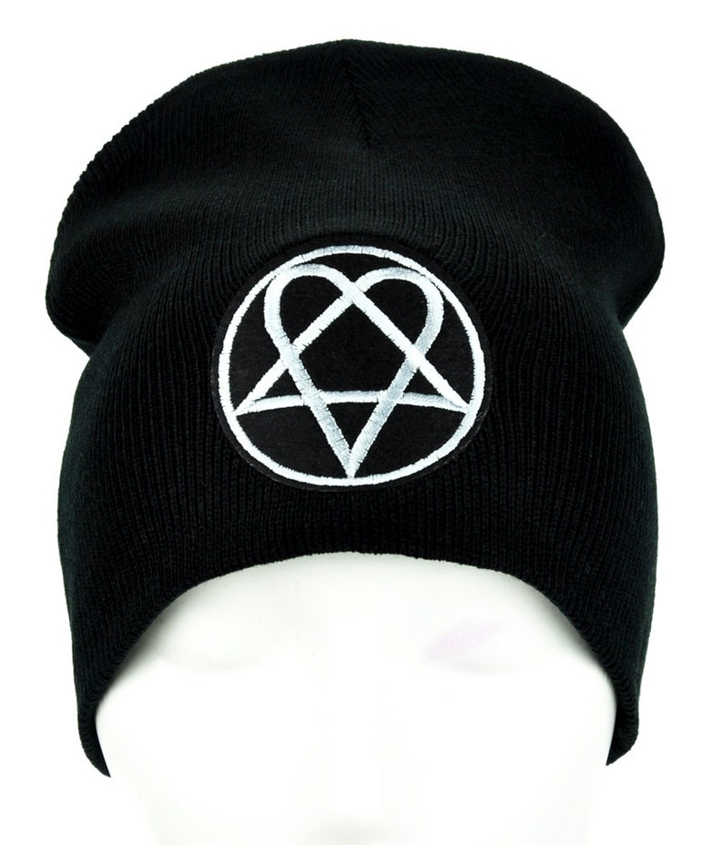 Heartagram HIM Ville Valo Patch Iron on Applique Gothic Clothing Gloom Rock