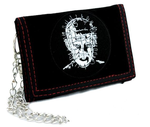White Vampire Bat Tri-fold Wallet Alternative Goth Dracula Horror Psychobilly