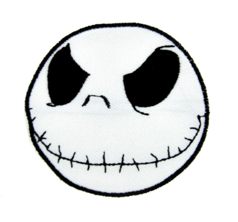 f8453db69a8b7 Evil Grin Jack Skellington Patch Iron on Applique Clothing