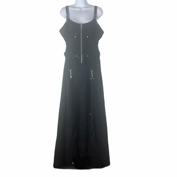 Vintage Lip Service Black Dress Gown w/ Hand Cuffs