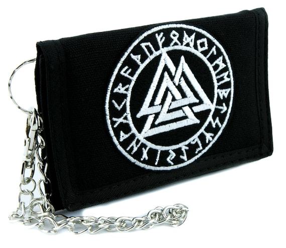 Triangles Valknut Odin Viking Symbol Tri-fold Wallet Alternative Clothing Norse