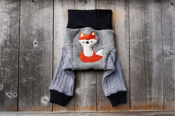 Fox Wool Soaker Large Wool Diaper Cover