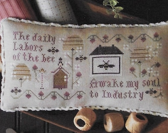 Counted Cross Stitch Pattern, Serial Bowl Collection, Lesson Three, Sampler Lessons, Primitive Decor, Plum Street Samplers, PATTERN ONLY
