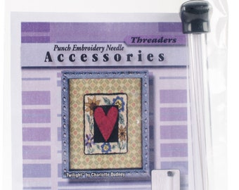 CTR Punchneedle Threader, Punch Needle Threader, CTR Threaders, CTR Needleworks, Punch Embroidery, Needle Threaders,