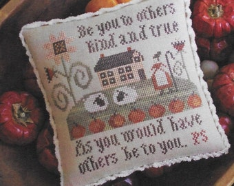 Counted Cross Stitch Pattern, Serial Bowl Collection, Lesson Four, Sampler Lessons, Primitive Decor, Plum Street Samplers, PATTERN ONLY