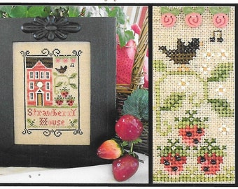 Counted Cross Stitch Pattern, Strawberry House, Cross Stitch, Cross Stitch Pattern, Strawberries, Little House Needlework, PATTERN ONLY