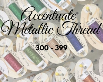 Accentuate, 300 - 399, Metallic Thread, Embroidery Thread, Embroidery, Cross Stitch Thread, Needlepoint, Blending Filament, Embellishment
