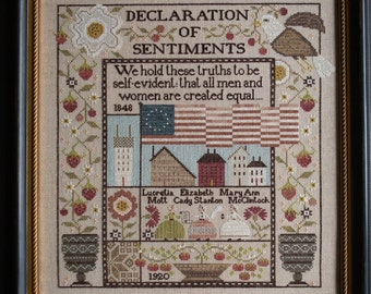 PRE-Order, Counted Cross Stitch Pattern, The Equality Sampler, Independence, Patriotic, Flag, Eagle, Plum Street Samplers, PATTERN ONLY