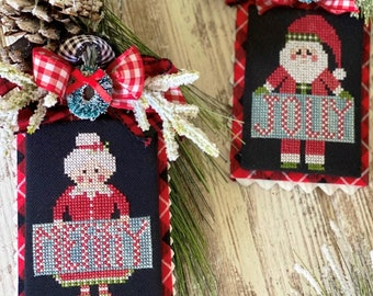 PRE-Order, Cross Stitch Pattern, Jolly Claus, Merry Mrs. Claus, Christmas Decor, Santa Claus, Stitching with the Housewives, PATTERN ONLY