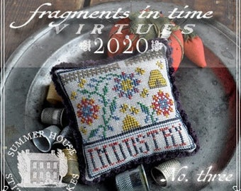 Counted Cross Stitch Pattern, Fragments in Time 2020, No 3 Industry, Virtues Series, Bee Skep, Summer House Stitches Workes, PATTERN ONLY