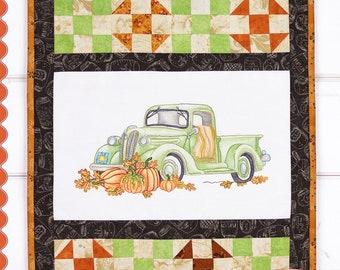 Embroidery Pattern, November Drive, Fall Decor, Autumn Decor, Pumpkins, Pick Up, Cottage Decor, Crabapple Hill Studio, PATTERN ONLY