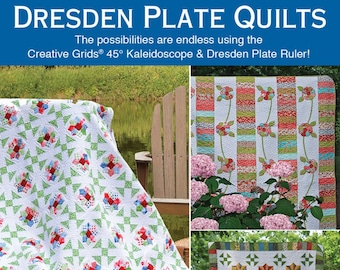 Softcover Book, Dresden Plate Quilts, Quilts, Strip Quilt, Dresden, Kaleidoscope Quilt, Creative Grids, Dresden Flowers, Penny Haren