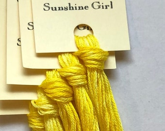 Classic Colorworks, Sunshine Girl, CCT-072, 5 YARD Skein, Hand Dyed Cotton, Embroidery Floss, Counted Cross Stitch, Embroidery Thread