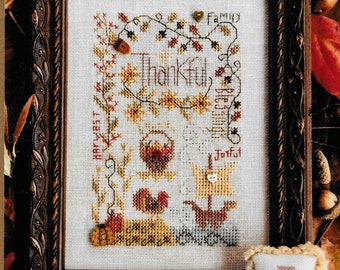 Counted Cross Stitch Pattern, Thankful Notes, Thanksgiving, Fall Decor, Cross Stitch, Cross Stitch Ornaments, Shepherd's Bush, PATTERN ONLY