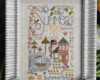Counted Cross Stitch Pattern, Summer Notes, Summertime, Summer Decor, Cross Stitch, Cross Stitch Ornaments, Shepherd's Bush, PATTERN ONLY