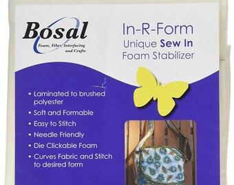 "Foam Stabilizer, In-R-Form, 18"" x 58"" Stabilizer, Sew In Stabilizer, Laminated Stabilizer, Handbag Stabilizer, Foam Interfacing, Bosal"