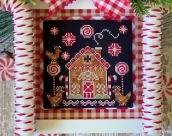 Cross Stitch Pattern, Candy Cane Coop, Christmas Decor, Candy Canes, Chickens, Stitching with the Housewives, PATTERN ONLY