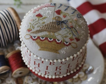 PRE-Order, Counted Cross Stitch Pattern, Happy Birthday America, Patriotic, Americana, Eagle, Primitive Decor, Brenda Gervais, PATTERN ONLY