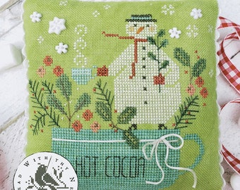 Counted Cross Stitch Pattern, Mr. Marshmallow, Hot Cocoa, Snowman, Hot Chocolate, Cocoa Mug, Brenda Gervais, PATTERN ONLY