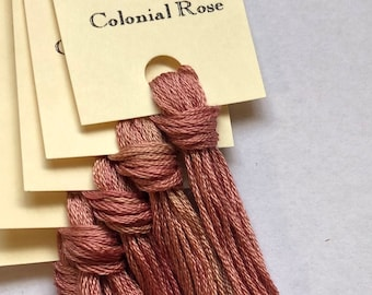 Classic Colorworks, Colonial Rose, CCT-247, 5 YARD Skein, Hand Dyed Cotton, Embroidery Floss, Counted Cross Stitch, Embroidery Thread